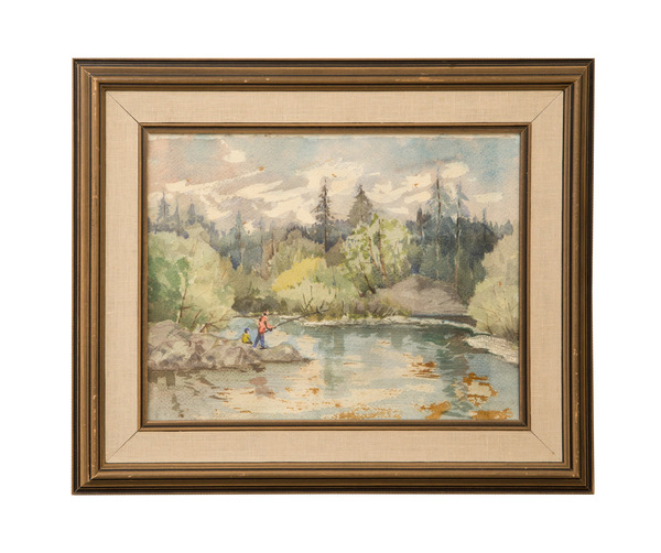 'gone fishing' water colour  275 %28web%29