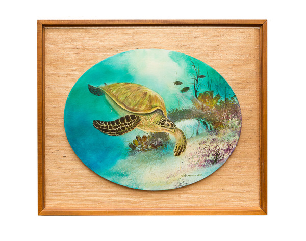 139 contemporary painting of sea turtle signed  295
