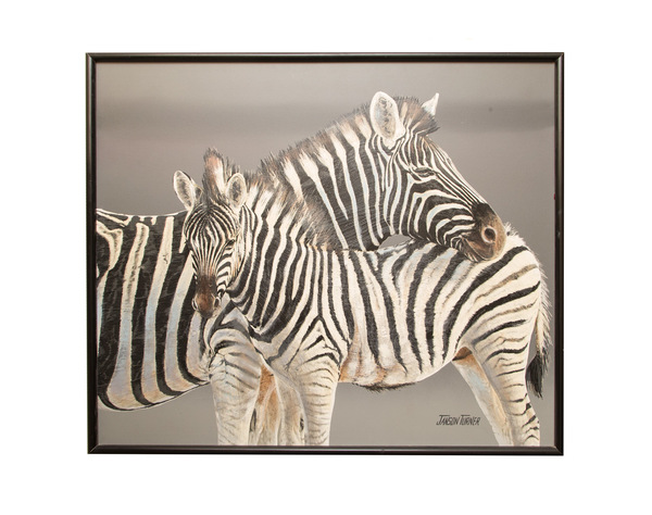 Original oil of zebras janson turner  1500%28web%29