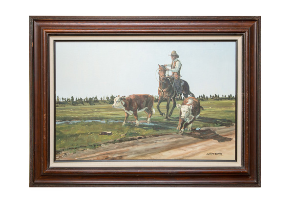 Original oil painting   'open range' by david adams  650%28web%29