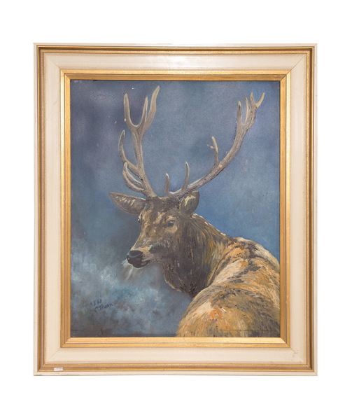 Original oil painting   stag by c. thorn  475 %28web%29