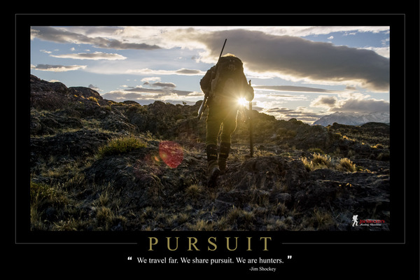 18 pursuit we travel far. we share pursuit. we are hunters