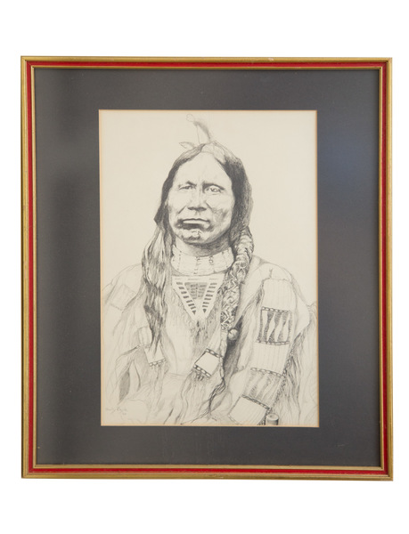 270   portrait %28plains native%29   in pencil signed and dated    295 %2815x18%29